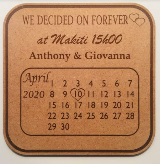 Customised Wedding Save the Date Wedding Invitations