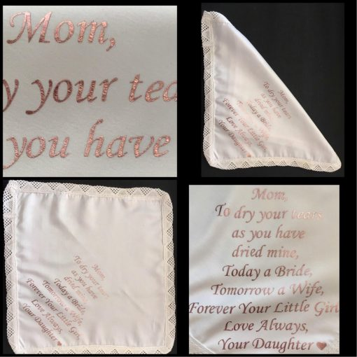 Customised Personalised Wedding Hankerchief