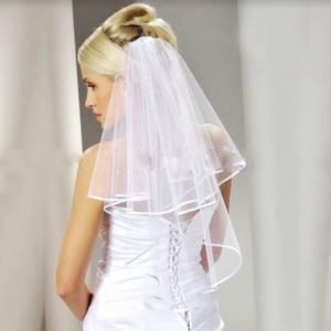 Elegant two layered bridal veil (Available in off-white ivory) includes hair comb