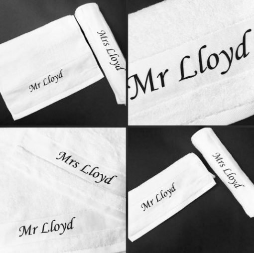 Customised His & Hers Towel
