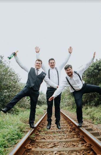 Wedding Black Suspenders for groom bestman groomsman