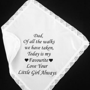 Father of the Bride Wedding Hankerchief