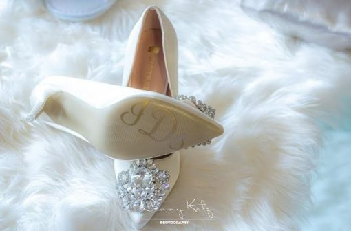 Personalised Bride Bridal Wedding Shoe Sticker