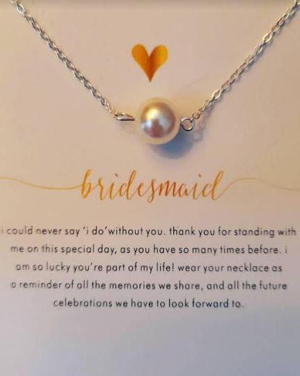 Bridesmaid Necklace | Wedding Thank You Gift