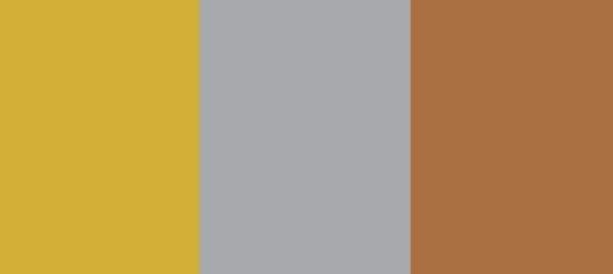 Metallic colour palette