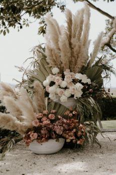 Pamgrass flower display