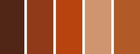 Rust colour palette