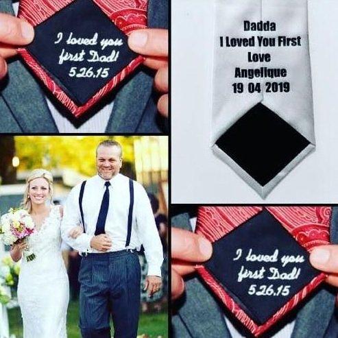 Personalised Wedding Tie