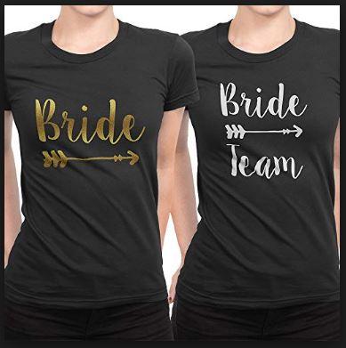 Bride and bride tribe tshirt