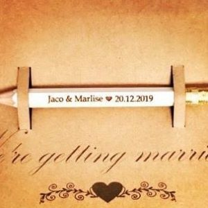 Personalised Save The Wedding Date Invitation Pencil
