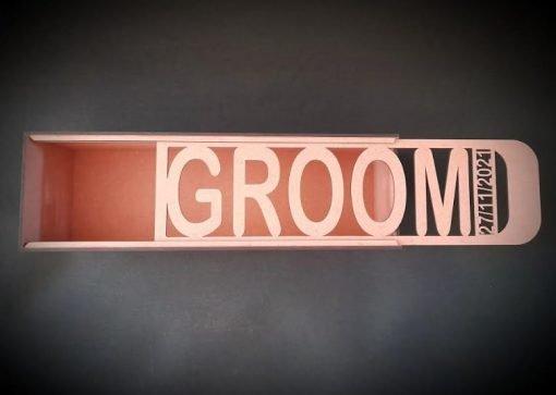 Personalised Groom Wooden Gift Box