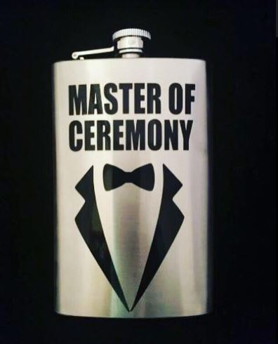 Master of Ceremony Wedding Flask