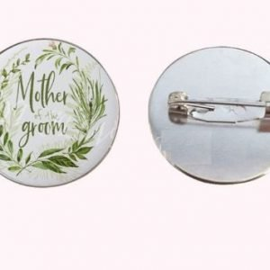 mother of groom wedding floral badge