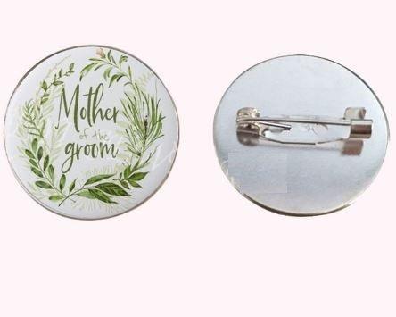 mother of groom wedding floral badge