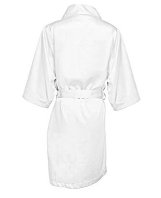 White Bridal Robe which is Personalised on the back with your name or role