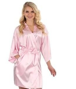 Light Pink Bridal Wedding Robe