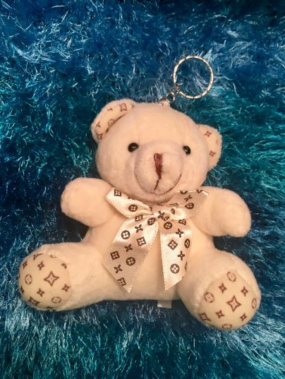 Flowergirl and Pageboy Teddy Bear Gift on a keyring - fill your Gift Boxes with Thank You Goodies