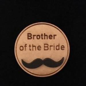 Brother of Bride Wooden Wedding Badge