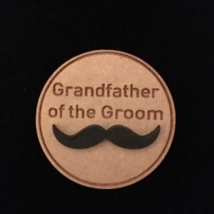 Grandfather of Groom Wooden Wedding Badge