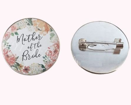 Mother of Bride floral badge