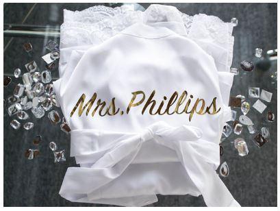 Personalised Customised Bridal Robe