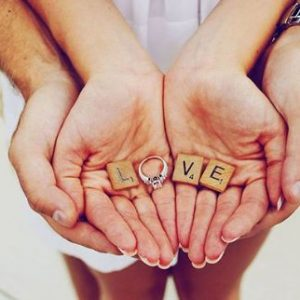 The Perfect Engagement Shoot Props: LVE Scrabble Letters