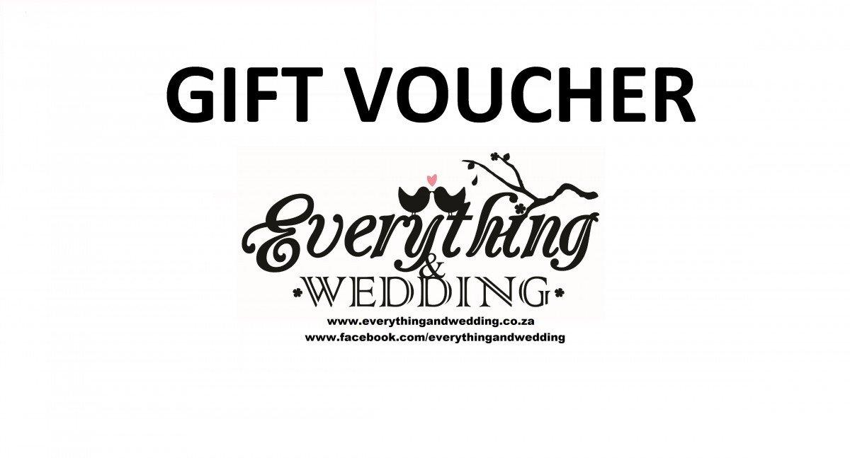 Shop Wedding Gifts: Gift Voucher To Shop At Www.everythingandwedding.co.za