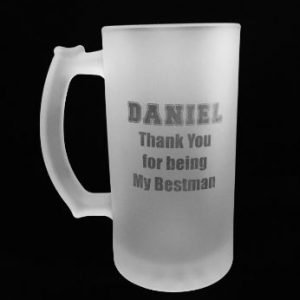 Customised Personalised Groom / Bestman / Groomsman / Father of Groom Wedding Gift Beer Glass