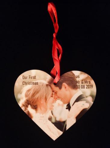 Customised Personalised Wedding Christmas Tree Ornament