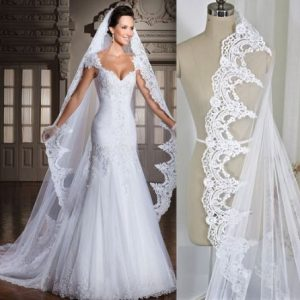 Stunning Cathedral Bridal Wedding Veil
