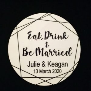 Wedding Coaster Gift Favour / Thank You gift