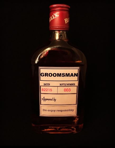 Awesome Groom, Bestman, Groomsman Bottle Stickers