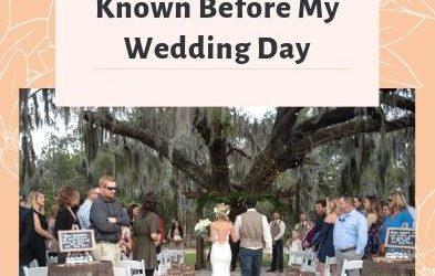 Things I Wish I Knew Before My Wedding