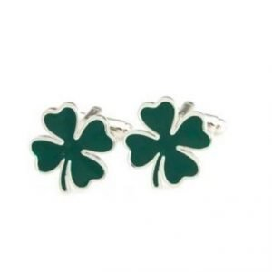 Clover Cufflinks (Product code CL040) Luck of the Irish