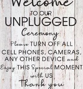 Welcome to Our Unplugged Wedding