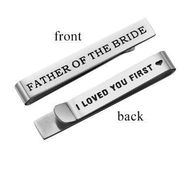 Special Father of Bride | Father of Groom Tie Clips