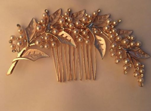 Stunning Rose Gold Bridal Wedding Headpiece Hair Accessory