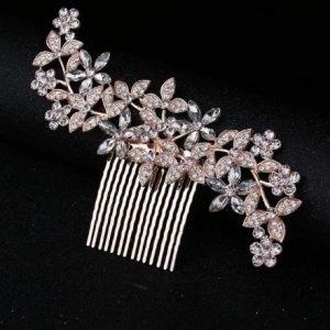 Stunning Rose Gold Bridal Wedding Headpiece Hair Accessory