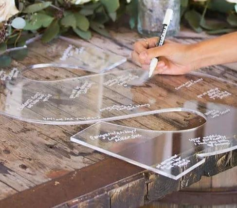 Wedding Guest Book Letters