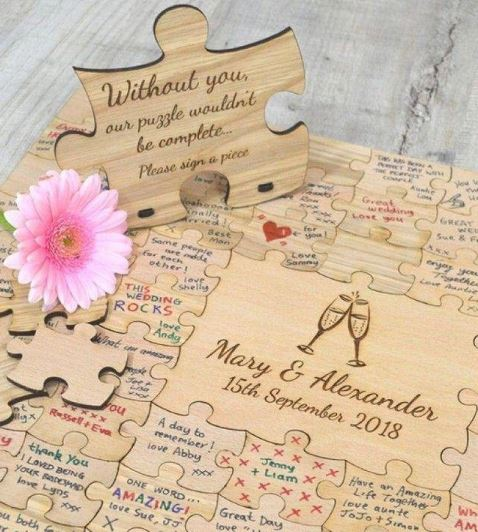 Customised Puzzle Piece for your Guest Book. A keepsake Forever.