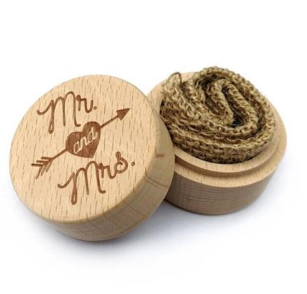 """Mr & Mrs"" Wedding Ring Box"