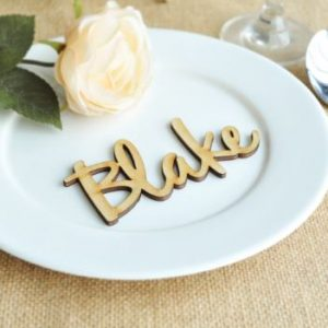 Customised Personalised Wedding Gift Favours: Wooden Guest Name