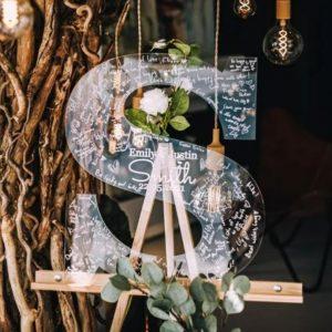 Personalised Wedding Alternative Modern Guest Book Letter Customised