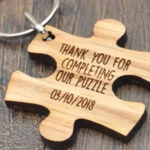 Customised Personalised Wedding Gift Favours: Puzzle Piece saying
