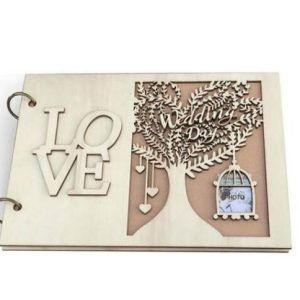 Wedding Wooden Guest Book