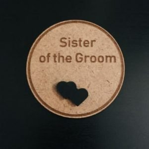 Sister of the Groom Wedding Badge