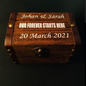 Personalised Wedding Bridal Ring/Gift Box