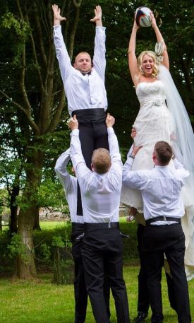 Wedding Rugby Toss Game