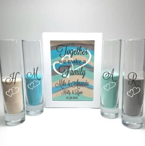Customised Personalised Wedding Sand Ceremony Kit