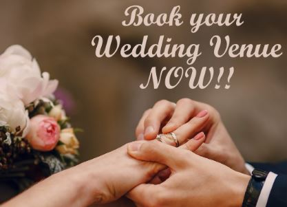 Book your wedding venue now
